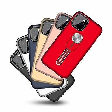 Недорогие Кейсы для iPhone-Кейс для Назначение Apple iPhone XS / iPhone XR / iPhone XS Max Кольца-держатели Кейс на заднюю панель Однотонный ТПУ / Углеродное волокно