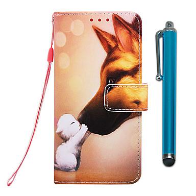 voordelige iPhone 7 hoesjes-hoesje voor Apple iPhone XR / iPhone XS Max portemonnee / kaarthouder / met standaard full body hoes Hound Kiss PU-leer voor iPhone 6S / 6S Plus / 7/7 Plus / 8/8 Plus / X / XS