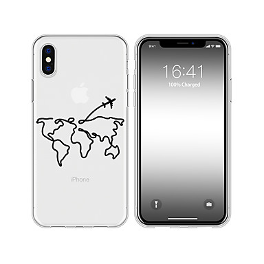 voordelige iPhone 5 hoesjes-hoesje voor iphone x xs max xr xs achterkant van de behuizing zachte hoes tpu nieuw patroon potloodtekening zachte tpu voor iphone5 5s se 6 6p 6s sp 7 7p 8 8p16 * 8 * 1