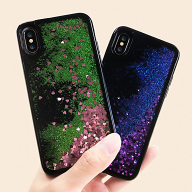 voordelige iPhone 6 Plus hoesjes-hoesje Voor Apple iPhone X / iPhone 8 Plus / iPhone 8 Waterbestendig / Stofbestendig / Stromende vloeistof Achterkant Landschap TPU