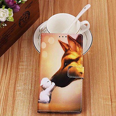voordelige Galaxy S-serie hoesjes / covers-hoesje Voor Samsung Galaxy S9 / S9 Plus / S8 Plus Portemonnee / Kaarthouder / met standaard Volledig hoesje Hond PU-nahka