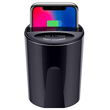 Недорогие Аксессуары для мобильных телефонов-быстрое беспроводное автомобильное зарядное устройство для samsung s9 s8 note10 9 ци беспроводная зарядка автомобильная чашка для iphone xsmax / xr / 8plus 10 Вт универсальный