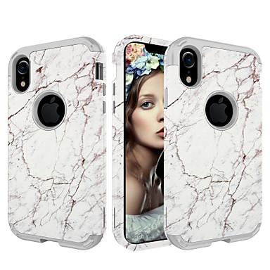 Недорогие Кейсы для iPhone-Кейс для Назначение Apple iPhone XS / iPhone XR / iPhone XS Max Защита от удара Кейс на заднюю панель Мрамор / Градиент цвета ПК / силикагель