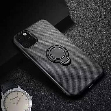 voordelige Huawei Mate hoesjes / covers-hoesje Voor Huawei Huawei nova 4e / Huawei P20 lite / Huawei P30 Lite Ringhouder / Magnetisch Achterkant Effen TPU / PC