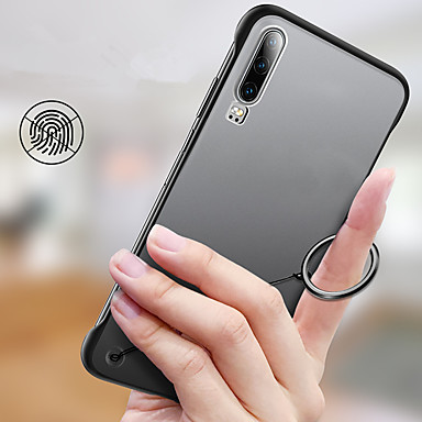 voordelige Huawei Mate hoesjes / covers-ultradunne slanke frameloze transparante matte hoes voor Huawei P30 Pro P30 Lite P30 P20 Pro P20 Lite P20 Hard PC achterkant beschermhoes voor mate 20 pro mate 20x mate 20 mate 10 pro mate 10 p20 lite