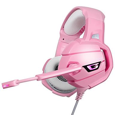 voordelige Gaming-oordopjes-litbest k5 led gaming hoofdtelefoon headset met microfoon microfoon voor ps4 pc pink warrior gamer
