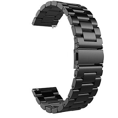 voordelige Smartwatch-accessoires-Horlogeband voor Gear S3 Frontier / Gear S3 Classic / Moto 360 Samsung / Samsung Galaxy / Huawei Klassieke gesp / Zakelijke band Roestvrij staal Polsband