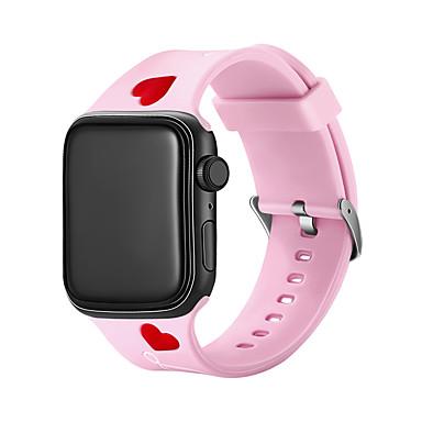 voordelige Apple Watch-bandjes-Horlogeband voor Apple Watch Series 4/3/2/1 Apple Cartoon Band Silicone Polsband