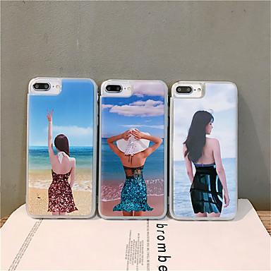 voordelige iPhone 6 hoesjes-hoesje Voor Apple iPhone XS / iPhone XR / iPhone XS Max Stromende vloeistof / Patroon / Glitterglans Achterkant Sexy dame TPU