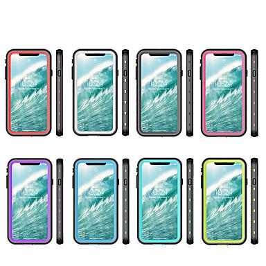 voordelige iPhone X hoesjes-hoesje voor Apple toepasbaar op xs max 2-in-1 anti-drop mobiele telefoon hoes xr waterdichte transparante dot all-inclusive x / xs mobiele telefoon hoes