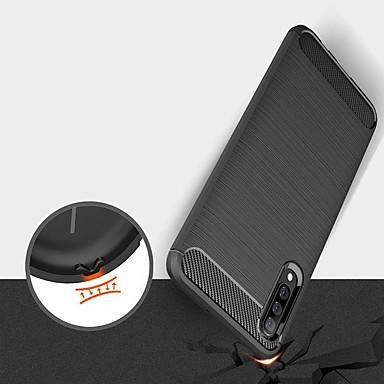 voordelige Galaxy A-serie hoesjes / covers-hoesje voor Samsung Galaxy A7 (2018) / A2 Core / A6 Plus (2018) Schokbestendig / Ultradunne Achterkant Effen Koolstofvezel Hoesje voor Samsung Galaxy A10 / A20E / A30 / A40 / A50 / A60 / A70