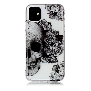 voordelige iPhone X hoesjes-hoesje Voor Apple iPhone 11 / iPhone 11 Pro / iPhone 11 Pro Max Ultradun / Transparant / Patroon Achterkant Doodskoppen TPU