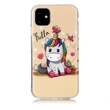 voordelige iPhone 5 hoesjes-hoesje Voor Apple iPhone 11 / iPhone 11 Pro / iPhone 11 Pro Max IMD / Ultradun / Patroon Achterkant dier TPU
