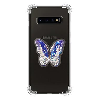 voordelige Galaxy S-serie hoesjes / covers-hoesje Voor Samsung Galaxy S9 / S9 Plus / Galaxy S10 Schokbestendig / Stromende vloeistof / Transparant Achterkant Glitterglans TPU