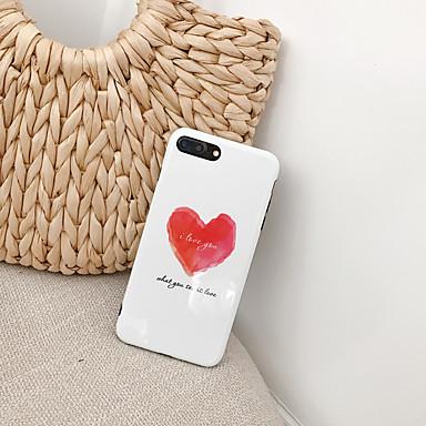 voordelige iPhone 7 hoesjes-hoesje Voor Apple iPhone XS / iPhone XR / iPhone XS Max Ultradun / Patroon Achterkant Woord / tekst / Hart TPU
