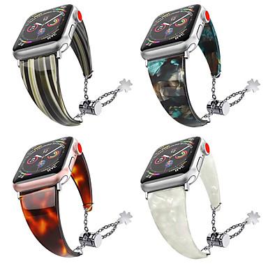 voordelige Apple Watch-bandjes-waterdichte hars horlogeband voor Apple Watch 40 mm / 44 mm / 38 mm / 42 mm mode metalen aanpassing armband band band voor iwatch 4 3 2 1