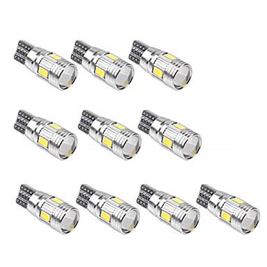 voordelige Autobinnenverlichting-10 stuks T10 Automatisch Lampen SMD 5630 6 LED Nummerplaatverlichting / Werklamp / Achterlicht Voor Universeel Alle jaren