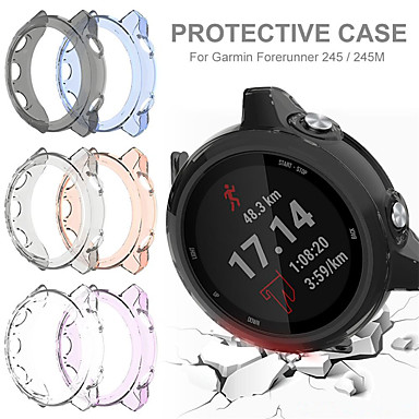 voordelige Smartwatch-accessoires-TPU beschermhoes voor Garmin Forerunner 245/245 m beschermhoes Shell voor Garmin Forerunner 245/245 m smartwatch draagbare accessoires