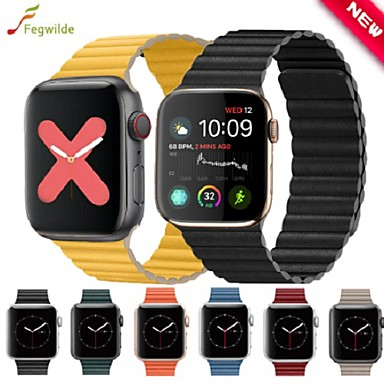 voordelige Smartwatch-accessoires-Horlogeband voor Apple Watch Series 5/4/3/2/1 Apple Sportband Echt leer Polsband