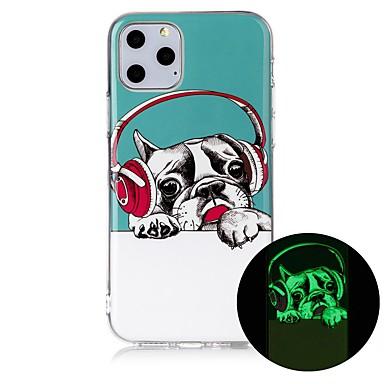 voordelige iPhone X hoesjes-hoesje Voor Apple iPhone 11 / iPhone 11 Pro / iPhone 11 Pro Max Glow in the dark / Ultradun / Patroon Achterkant Hond TPU