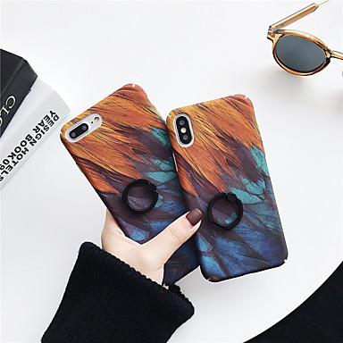 voordelige iPhone-hoesjes-hoesje Voor Apple iPhone XS / iPhone XR / iPhone XS Max Ringhouder / Patroon Achterkant Veren PC