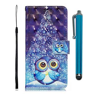 voordelige Galaxy S-serie hoesjes / covers-hoesje Voor Samsung Galaxy S9 / S9 Plus / S8 Plus Portemonnee / Kaarthouder / met standaard Volledig hoesje dier PU-nahka