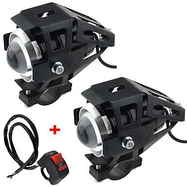 voordelige Motorverlichting-motorfiets elektrische auto gemodificeerde lamp led lamp u5 transformatoren laserkanonnen koplampen met sterk licht zwak licht flits 2 stuks