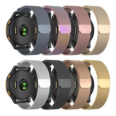 voordelige Smartwatch-accessoires-milanese lusriem voor garmin venu / vivoactiv3 / forerunner245 / 645 / vivomove / vivomove hr roestvrij stalen armband