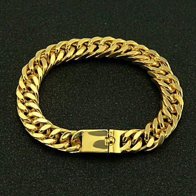 voordelige Heren Armband-Heren Armband CrossBody Twist Circle Punk Legering Armband sieraden Goud Voor Lahja Dagelijks