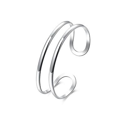 voordelige Heren Armband-Heren Cuff armbanden Cut Out Kostbaar Eenvoudig Modieus Koper Armband sieraden Zilver Voor Dagelijks Straat