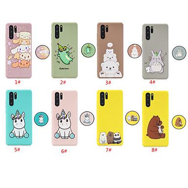 voordelige Huawei Mate hoesjes / covers-hoesje voor huawei huawei p20 / huawei p20 pro / huawei p20 lite met standaard / patroon achterkant dier / cartoon tpu