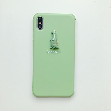 voordelige iPhone-hoesjes-hoesje Voor Apple iPhone XS / iPhone XR / iPhone XS Max Ultradun / Patroon Achterkant Effen / Cartoon TPU
