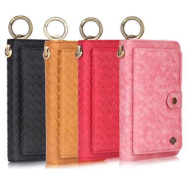 voordelige Galaxy Note-serie hoesjes / covers-multifunctionele lederen holsterhoes voor de polsband voor samsung note 10 plus 9 8 portemonnee / echt leer / schokbestendige effen kleuren