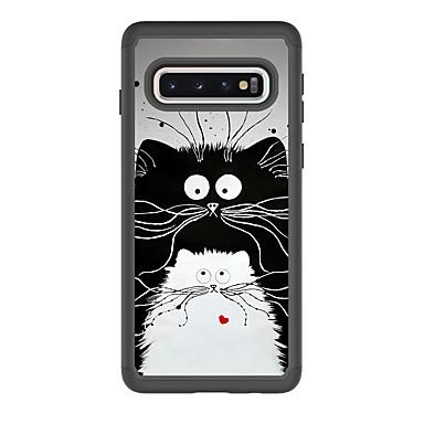 voordelige Galaxy S-serie hoesjes / covers-hoesje Voor Samsung Galaxy S9 / S9 Plus / S8 Plus Schokbestendig / Patroon Achterkant Kat PU-nahka