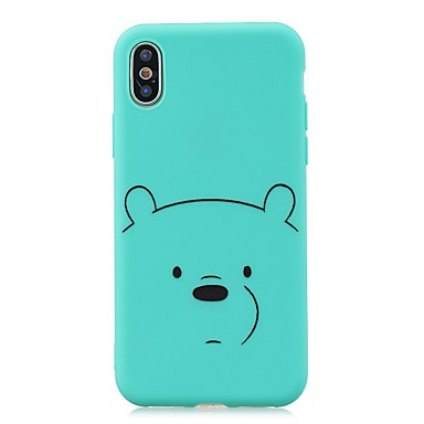 voordelige iPhone 5 hoesjes-hoesje Voor Apple iPhone XS / iPhone XR / iPhone X Ultradun / Patroon Achterkant dier TPU