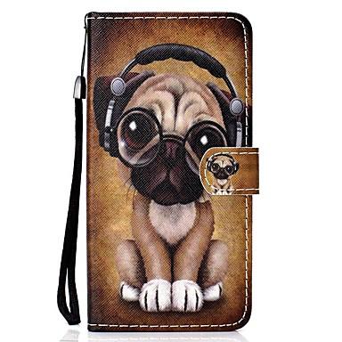 voordelige iPhone 6 Plus hoesjes-hoesje Voor Apple iPhone 11 / iPhone 11 Pro / iPhone 11 Pro Max Portemonnee / Kaarthouder / Flip Volledig hoesje Hond PU-nahka