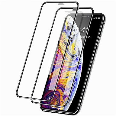 voordelige iPhone screenprotectors -2 stks 9d screen protector voor iphone 11/11 pro / 11 pro max full cover gehard glas screen protector iphone xs max / xr / xs / x