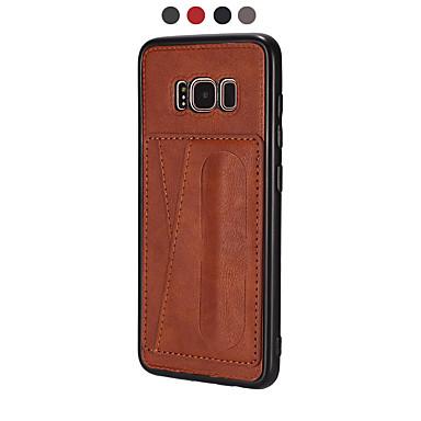 voordelige Galaxy S-serie hoesjes / covers-hoesje Voor Samsung Galaxy S9 / S9 Plus / S8 Plus Portemonnee / Ultradun / Magnetisch Achterkant Tegel PU-nahka