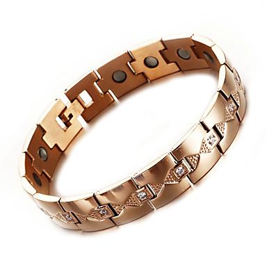 voordelige Heren Armband-Heren Oorbellen / armband Klassiek Lucky Luxe Punk modieus Gothic Modieus Titanium Staal Armband sieraden Goud Rose Voor Lahja Dagelijks Straat Feestdagen Festival