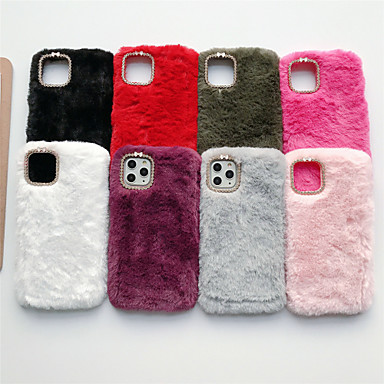 voordelige iPhone 5 hoesjes-hoesje Voor Apple iPhone 11 / iPhone 11 Pro / iPhone 11 Pro Max Strass Achterkant Pluche TPU