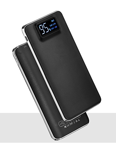 cheap Power Banks-20000mAh 5V 2A Portable Powerbank Charger Flashlight with LED Smart Digital Display External Battery Charger for Mobile Phone