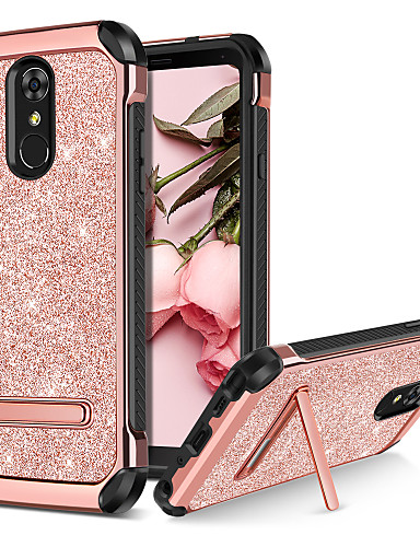 cheap Cases / Covers for LG-BENTOBEN Case For LG LG Stylo 4 Shockproof / with Stand / Plating Back Cover Glitter Shine Hard PU Leather / TPU / PC for LG Stylo 4
