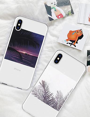 levne Yeni Gelenler-Carcasă Pro Apple iPhone XR / iPhone XS Max Vzor Zadní kryt Rostliny / Scéna Měkké TPU pro iPhone XS / iPhone XR / iPhone XS Max