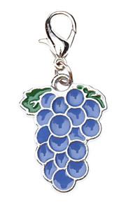 Cat / Dog Tag Grape Blue Metal