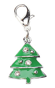 Rhinestone Decorated Christmas Tree Style Collar Charm for Dogs Cats