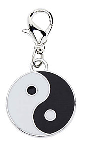 Dog tags Taichi Style Collar Charm for Dogs Cats (Black with White)