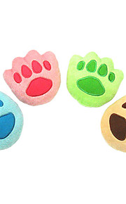 Cute Paw Shaped Plush Toy for Pets Dogs (Assorted Colors)