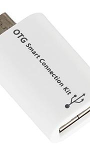 Todo en 1 OTG Kit de conexión inteligente de tarjeta Micro USB OTG adaptador de lector Flash drive Keyboard Soporte Cable USB Ratón Impresora