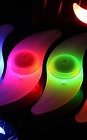 אורות מהבהבים כובע שסתום / אורות גלגל / אורות אופניים LED פנסי אופניים רכיבת אופניים עמיד במים, צבעוני רכיבה על אופניים / IPX-4