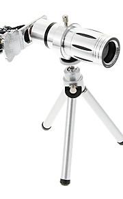 보편적 인 줌 iphone 8 삼각대와 12x 망원 금속 핸드폰 렌즈 7 7 삼성 갤럭시 s8 s7